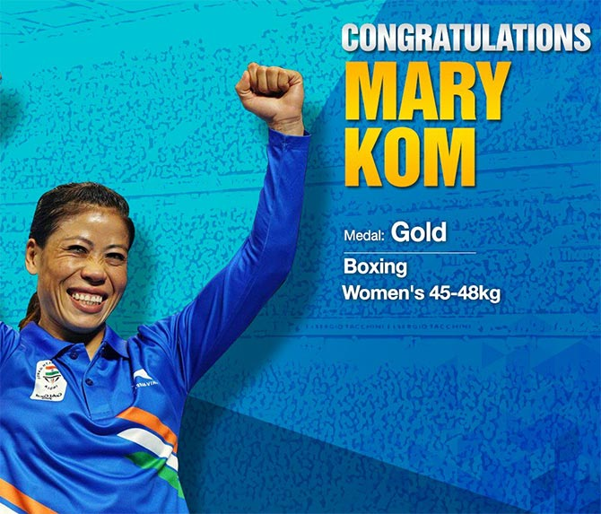 Mary Kom is an athlete Eidelweiss put their money right from the start. Photograph: Courtesy @EdelweissFin/Twitter.