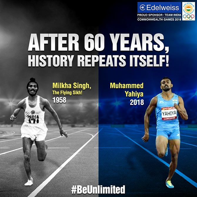 Rooting for Muhammed Yahiya. Photograph: Courtesy @EdelweissFin/Twitter.