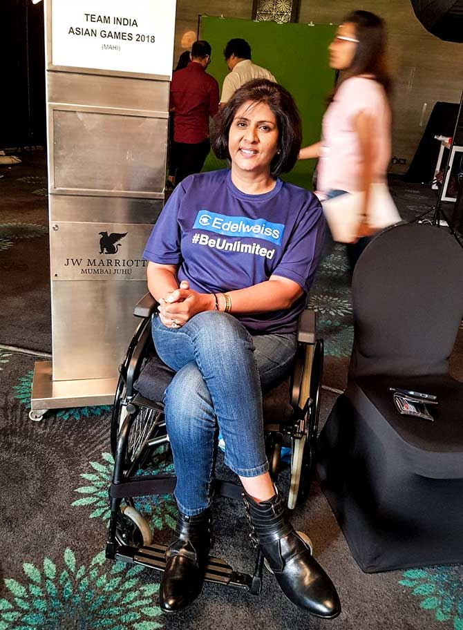 Deepa Malik is the first Indian woman to win a medal in Paralympic Games when she won a silver medal at the 2016 Summer Paralympics in shot put. Photograph: Courtesy @EdelweissFin/Twitter.