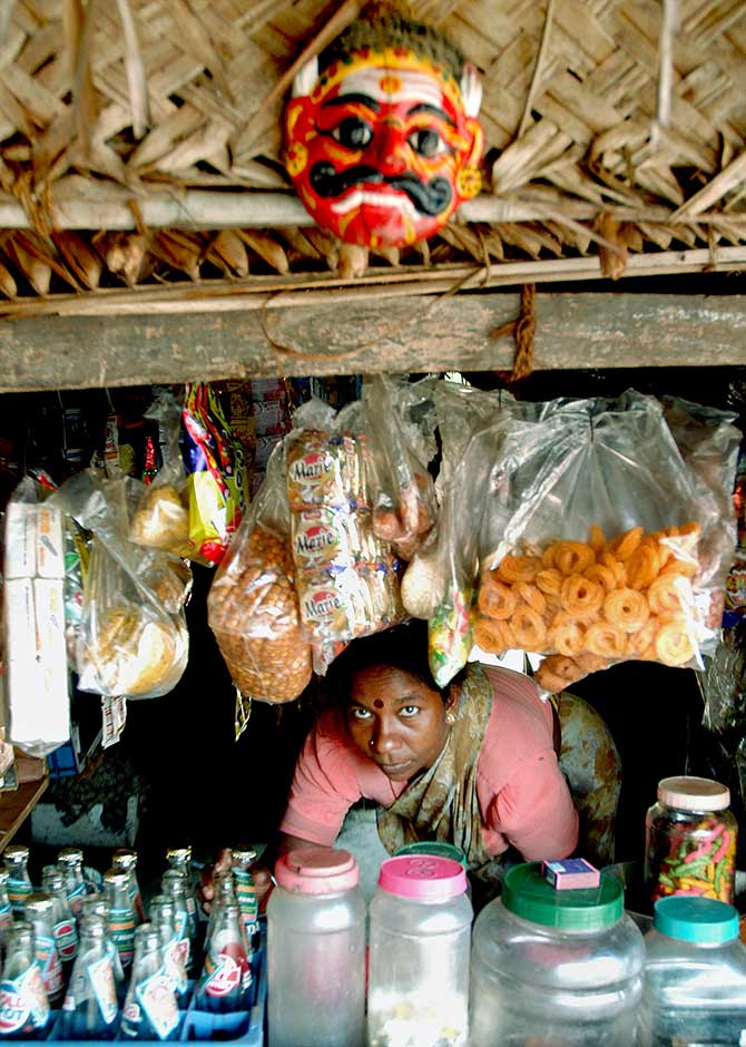 A village shop in Cuddalore district, Tamil Nadu. Photograph: Jagadeesh NV/Reuters.