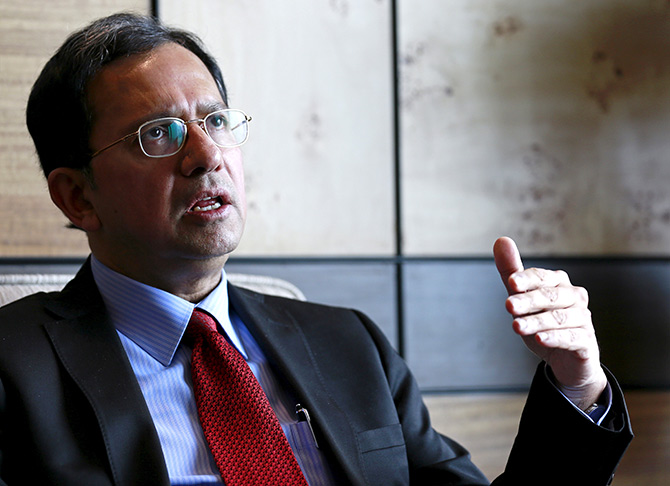 Nestle India's managing director Suresh Narayanan, speaks during an interview in Mumbai, India. Photograph: Danish Siddiqui/Reuters.