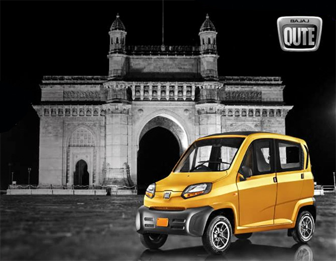 A Qute advertisment from Bajaj. Photograph: Courtesy FreeTheQute/Facebook.com.