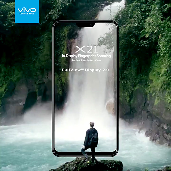 The high-end offering from Vivo that operates on fingerprint scanning --  X21. Photograph: Courtesy Vivo.com.