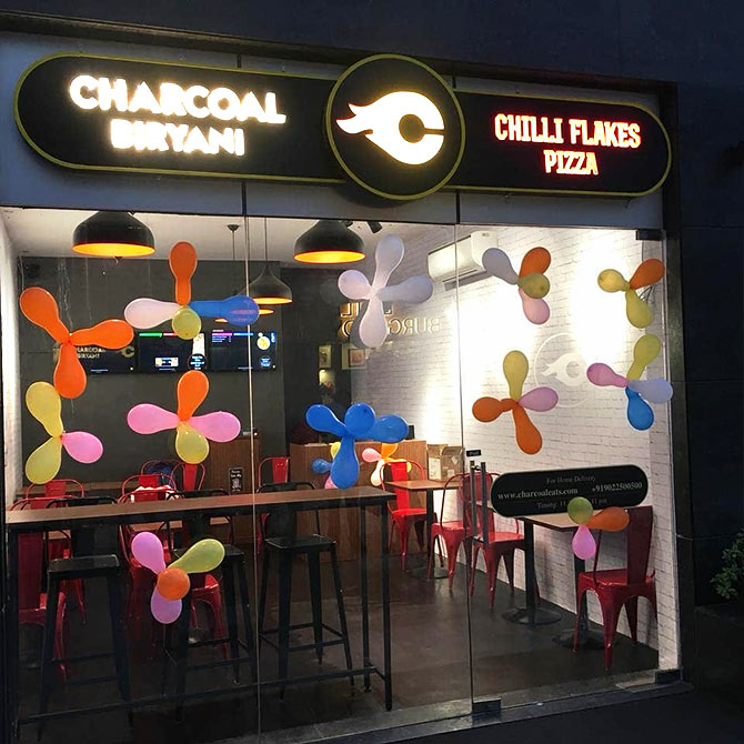 A Charcoal Eats outlet opens in Gurugram. Photograph Courtesy @CharcoalEats.