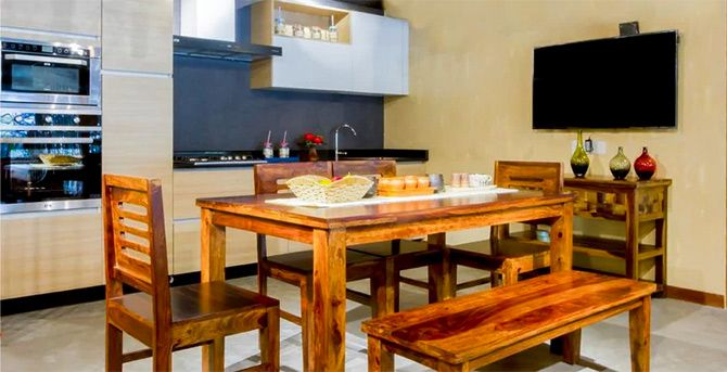 A Pepperfry kitchen. Photograph: Courtesy Pepperfry.com.