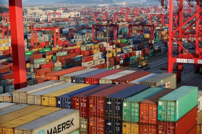 Exports contract for 6th month; trade deficit widens