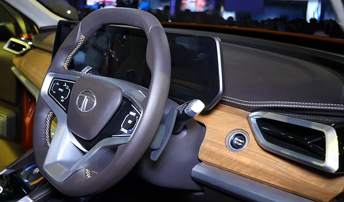 The Tata  Harrier Interiors