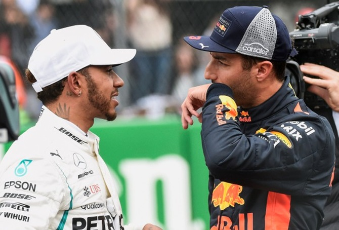 Rediff Sports - Cricket, Indian hockey, Tennis, Football, Chess, Golf - Mexican GP: Ricciardo denies Verstappen record pole; Hamilton third