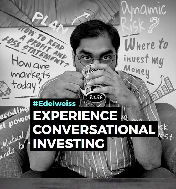 Brokerage firms like Edelweiss Securities and others have flagged off in India the notion of conversational investing which facilitates interactions between customers and  non-humans in managing their financial lives. Photograph: Courtesy www.edelweiss.in.