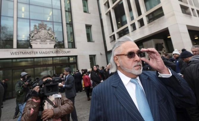 Vijay Mallya leaves the Westminster magistrate's court in London, July 31, 2018. Photograph: Simon Dawson/Reuters