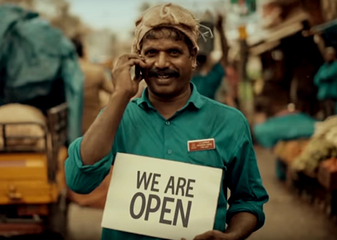 The Samsonite suitcase campaign to boost tourism titled We are Open. Photograph: Courtesy Samsonite.