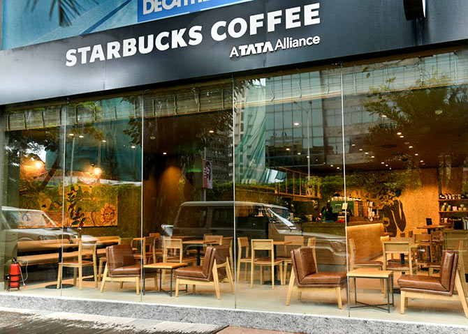The Atria Mall, Worli outlet of Starbucks. Photograph: Courtesy @StarbucksIndia/Twitter