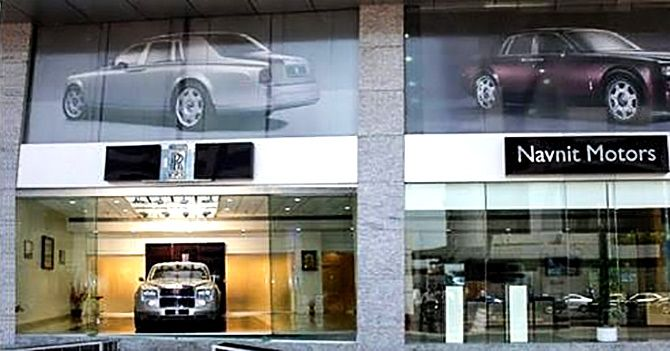 The Rolls Royce showrrom at Atria Mall, Worli, Mumbai. Photograph: Courtey Atria Mall Worli/Instagram.