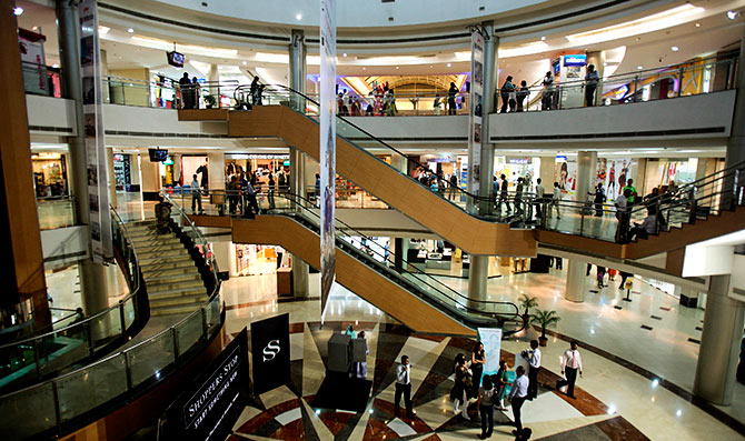 Inorbit Mall, Malad, Mumbai. Photograph: Punit Paranjpe/Reuters.