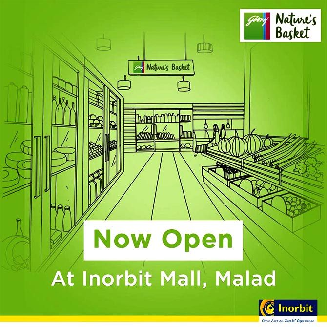 When Godrej opened its outlet at Inorbit Mall, Malad, Mumbai. Photograph: Courtesy @NaturesBasket/Twitter