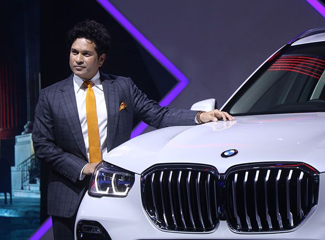 sachin Tendulkar launcheds the All New BMW X5 in India