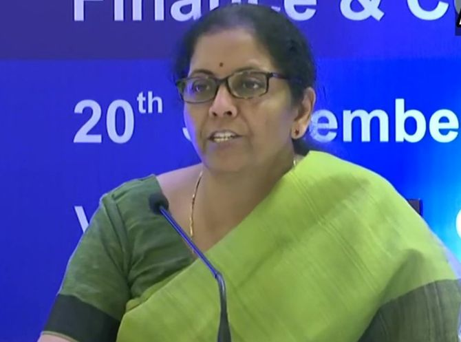 Sitharaman cuts corporate tax to China's level