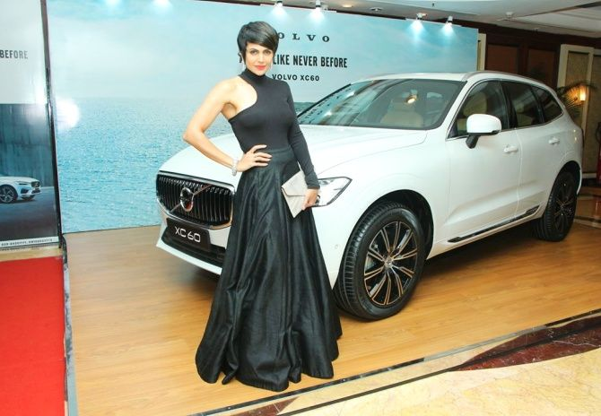 Mandira Bedi with Volvo XC60