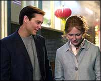 Tobey Maguire and Kirsten Dunst in Spider-Man 2