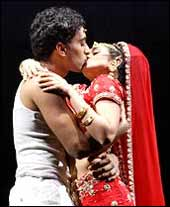 Manu Narayan and Anisha Nagarajan in Bombay Dreams