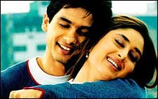 Shahid and Kareena Kapoor in Fida