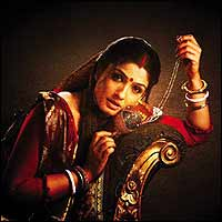 Raveena Tandon as Choti Bahu in Sahib Bibi...