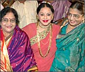 Padmini (centre) at Surya-Jyotika's wedding