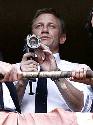 Daniel Craig as James Bond in the currently untitled Bond 22
