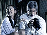 Jiah Khan and Amitabh Bachchan in Nishabd