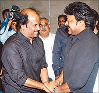 With Tamil superstar, Rajnikanth