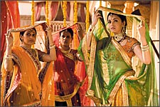 A still from Jodhaa Akbar