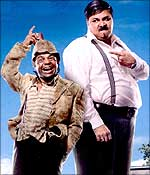 Rajpal Yadav and Satish Shah