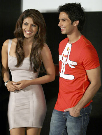 Priyanka Chopra and Shahid Kapur