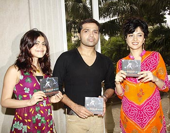 Shenaz Treasurywala, Himesh Reshammiya and Sonal Sehgal at Radio music launch