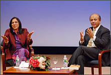 Mira Nair and Abraham Verghese