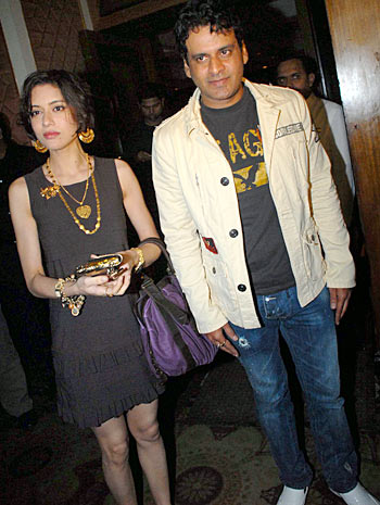 Manoj Bajpayee with wife Shabana
