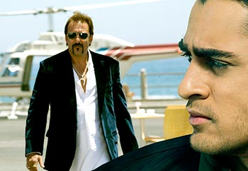 Sanjay Dutt, Imran Khan in the scene from Luck