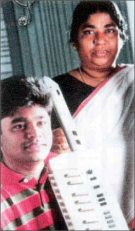 A R Rahman with his mother