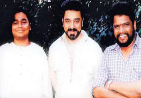A R Rahman, actor Kamal Hassan and director K S Ravikumar