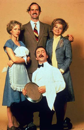 A scene fro Fawlty Towers