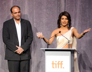 Ashutosh Gowariker and Priyanka Chopra