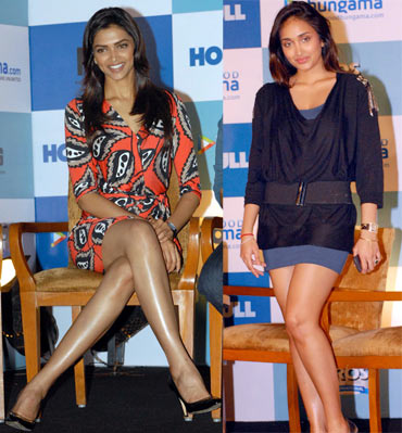Deepika Padukone and Jiah Khan