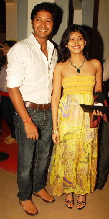 Shreyas Talpade and his wife Deepti