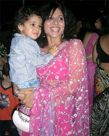 Tanaaz Irani with her son Zeus
