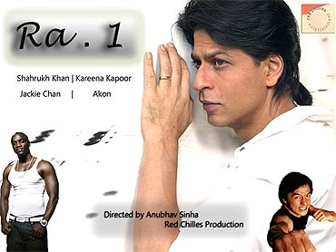 A poster of Ra.One