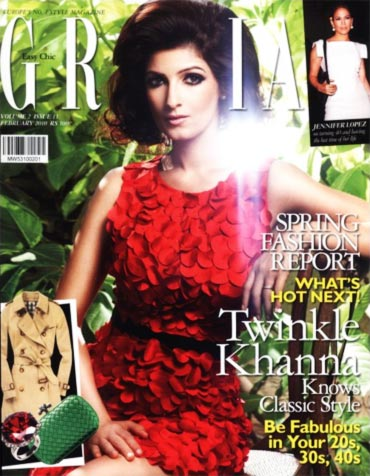 Twinkle Khanna on the cover of Grazia