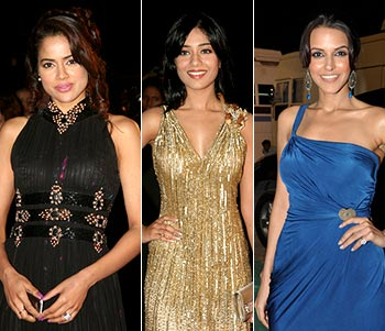 Sameera Reddy, Amrita Rao and Neha Dhupia