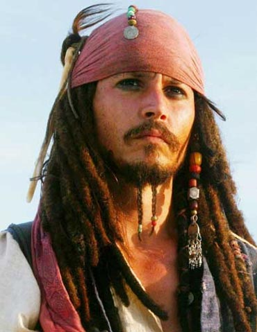 Johnny Depp in a scene from Pirates of The Caribbean