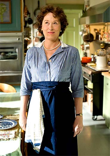 Meryl Streep in a scene from Julie and Julia