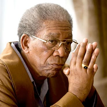 Morgan Freeman in a scene from Invictus